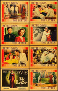 "Movie Posters:Film Noir, The Letter (Warner Brothers, 1940). Lobby Card Set of 8 (11"" X14"").. ..."