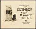 "Movie Posters:Comedy, The Playhouse (First National, 1921). Title Lobby Card (11"" X14"").. ..."