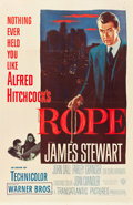 """Movie Posters:Hitchcock, Rope (Warner Brothers, 1948). One Sheet (27"""" X 41"""").. ..."""