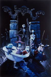 "The Nightmare Before Christmas (Touchstone, 1993). Alternate Lenticular One Sheet (27"" X 40"")"
