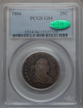 Early Quarters: , 1806 25C Good 4 PCGS. CAC. PCGS Population (54/636). NGC Census:(24/359). Mintage: 206,124. Numismedia Wsl. Price for prob...