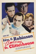 """Movie Posters:Crime, The Amazing Dr. Clitterhouse (Warner Brothers, 1938). One Sheet(27"""" X 41"""").. ..."""