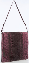 Luxury Accessories:Bags, Gucci Pink & Purple Ruched Snakeskin Evening Clutch Bag. ...