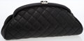 Luxury Accessories:Bags, Chanel Black Quilted Lambskin Leather Timeless Clutch with SilverHardware. ...
