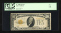 Small Size:Gold Certificates, Fr. 2400 $10 1928 Gold Certificate. PCGS Fine 12.. ...