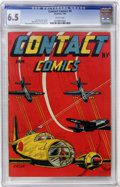 Golden Age (1938-1955):War, Contact Comics #4 (Aviation Press, 1945) CGC FN+ 6.5 Whitepages....