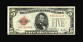 Small Size:Legal Tender Notes, Fr. 1526* $5 1928A Legal Tender Note. Very Fine.. ...