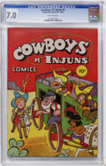 Golden Age (1938-1955):Funny Animal, Cowboys 'n' Injuns #1 (Magazine Enterprises, 1946) CGC FN/VF 7.0Off-white pages....
