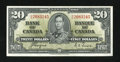 Canadian Currency: , BC-25c $20 1937.. ...