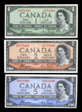 "Canadian Currency: , Three ""Devil's Face"" Portrait Canadian Notes.. ... (Total: 3 notes)"