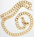 Luxury Accessories:Accessories, Chanel Gold Chain Oversize Belt with Hook Closure. ...