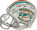 Football Collectibles:Helmets, 1972 Miami Dolphins Team Signed Reunion Helmet - Undefeated Season! ...