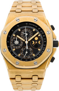 Audemars Piguet Pink Gold Royal Oak Offshore Quantieme Perpetuel Automatic