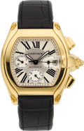 Timepieces:Wristwatch, Cartier Ref. 2619 Yellow Gold Roadster Chronograph. ...