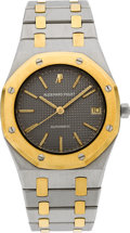 Timepieces:Wristwatch, Audemars Piguet Steel & Gold Royal Oak Automatic. ...