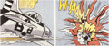 Post-War & Contemporary:Pop, ROY LICHTENSTEIN (American, 1923-1997). WHAAM! (diptych),1984 (1963). Color offset lithographs. Both 25 x 29-1/2 inches...