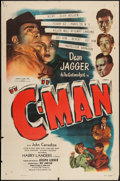 "Movie Posters:Crime, C-Man (Film Classics, Inc., 1949). One Sheet (27"" X 41"") & Lobby Card (11"" X 14""). Crime.. ... (Total: 2 Items)"