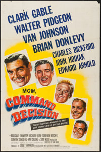 "Command Decision (MGM, 1948). One Sheet (27"" X 41"") & Lobby Cards (6) (11"" X 14""). War. ... (Tot..."