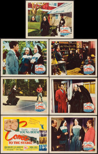 """Come to the Stable (20th Century Fox, 1949). Title Lobby Card & Lobby Cards (6) (11"""" X 14""""). Drama..."""