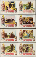 """Movie Posters:Western, Conquest of Cochise & Other Lot (Columbia, 1955). Lobby Cards(8) and Lobby Card Set of 8 (11"""" X 14""""). Western.. ... (Total: 16Items)"""
