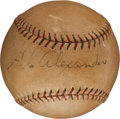 Autographs:Baseballs, 1930's Grover Cleveland Alexander Single Signed Baseball....