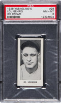 Baseball Cards:Singles (Pre-1930), 1928 Yuengling's Ice Cream Lou Gehrig #26 PSA NM-MT 8....