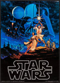 "Movie Posters:Science Fiction, Star Wars by Greg and Tim Hildebrandt (Topps, 1996). AutographedCollectible Card (2.5"" X 3.5"") & Commercial Poster (20"" X 2...(Total: 2 Items)"