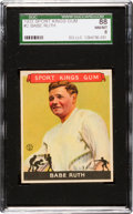 Baseball Cards:Singles (1930-1939), 1933 Sport Kings Babe Ruth #2 SGC 88 NM/MT 8. ...
