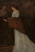 Mainstream Illustration, LUCIEN ABRAMS (American, 1870-1941). Reverie. Oil on canvas.52 x 36 in.. Signed lower left. Property from the Estat...
