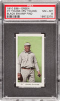 "Baseball Cards:Singles (Pre-1930), 1910 E98 ""Set of 30"" Cy Young, Green PSA NM-MT 8 - Black SwampFind. ..."