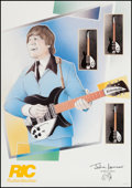 "Movie Posters:Rock and Roll, John Lennon (Rickenbacker, 1990). British Promotional Poster (23"" X30""). Rock and Roll.. ..."