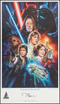 "Movie Posters:Science Fiction, Star Wars Celebration Lot (Lucasfilm, 2007/2008). AutographedLimited Edition Lithograph Art Print (21"" X 36"") &Autographed... (Total: 2 Items)"