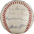 Autographs:Baseballs, 1963 St. Louis Cardinals Team Signed Baseball from The Stan MusialCollection....