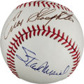 Autographs:Baseballs, Circa 2000 St. Louis Cardinals Hall of Famers Multi-Signed Baseballfrom The Stan Musial Collection....