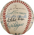 Autographs:Baseballs, 1952 American League All-Star Team Signed Baseball from The StanMusial Collection....