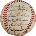 Autographs:Baseballs, 1949 National League All-Star Team Signed Baseball from The StanMusial Collection....