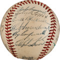 Autographs:Baseballs, 1949 National League All-Star Team Signed Baseball from The Stan Musial Collection....
