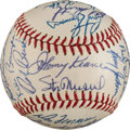 Autographs:Baseballs, 1962 St. Louis Cardinals Team Signed Baseball from The Stan Musial Collection....