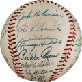 Autographs:Baseballs, 1953 National League All-Star Team Signed Baseball from The StanMusial Collection....