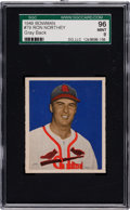 Baseball Cards:Singles (1940-1949), 1949 Bowman Ron Northey #79 SGC 96 Mint 9....