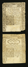 Colonial Notes:Connecticut, Connecticut July 1, 1775 2s 6d Very Good.. Connecticut June 19,1776 6d Very Good.. ... (Total: 2 notes)