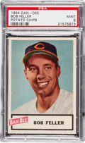 Baseball Cards:Singles (1950-1959), 1954 Dan-Dee Potato Chips Bob Feller PSA Mint 9....
