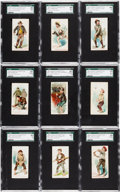 "Non-Sport Cards:Sets, 1889 N88 Duke ""Terrors of America"" Complete Set (50) - #1 on theSGC Set Registry. ..."