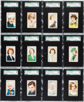 """Non-Sport Cards:Sets, 1934 Gallaher LTD """"Champions of Stage and Screen"""" Complete Set (48)- #1 on the SGC Set Registry. ..."""