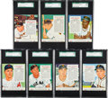 Baseball Cards:Lots, 1955 Red Man Baseball SGC Graded Collection (7) With Tabs. ...