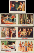 """Movie Posters:Elvis Presley, Girl Happy (MGM, 1965). Lobby Cards (7) (11"""" X 14""""), Herald (8.5"""" X11"""" Closed, 8.5"""" X 17"""" Open) & Uncut Pressbook (12"""" X 17...(Total: 9 Items)"""