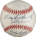 Autographs:Baseballs, 1944 St. Louis Cardinals Team Signed Baseball from The Stan MusialCollection....