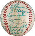 Autographs:Baseballs, 1957 National League All-Star Team Signed Baseball from The StanMusial Collection....