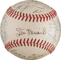 Autographs:Baseballs, 1948 St. Louis Cardinals Team Signed Baseball from The Stan Musial Collection....