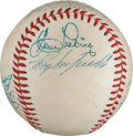 Autographs:Baseballs, 1956 National League All-Star Partial Team Signed Baseball from TheStan Musial Collection....